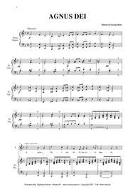 AGNUS DEI - G. Bizet - Arr. for Soprano or Tenor and Organ/Piano