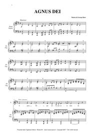 AGNUS DEI - G. Bizet - Arr. for Alto and Organ/Piano