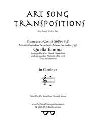 Quella fiamma (G minor)