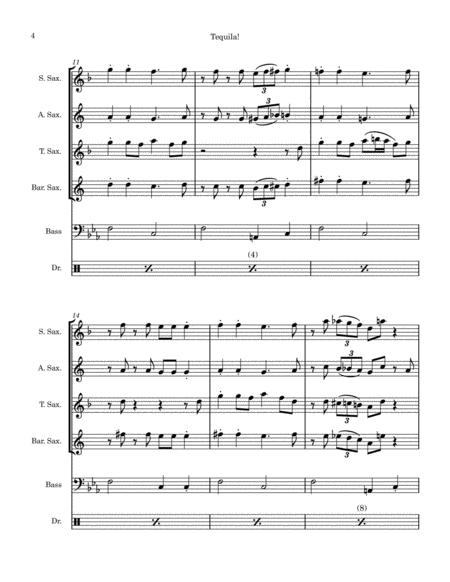 Tequila For Sax Quartet Free Sheet Music Notes Preview