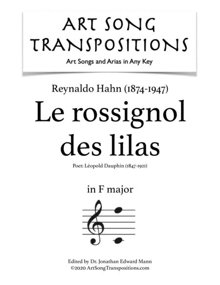 Le Rossignol des lilas (F major)
