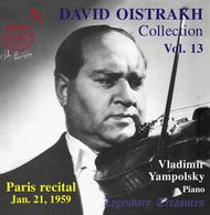 David Oistrakh Collection: Paris Recital 1959, Vol. 13