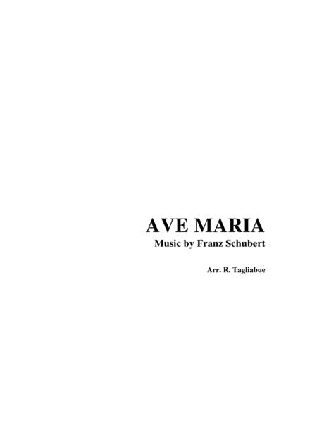 AVE MARIA by F. Schubert - Arr. for SATB Choir and Piano - Latin Lyrics