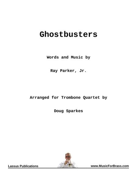 Ghostbusters for Trombone Quartet