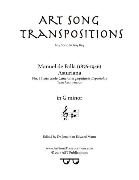 Asturiana (G minor)