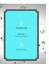 Prelude in G minor - original piano solo