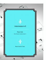 Intermezzo in E - original piano solo