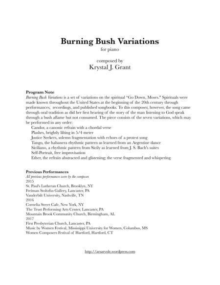Burning Bush Variations