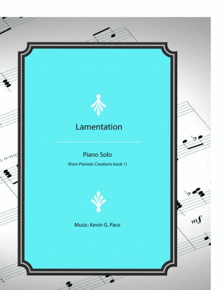 Lamentation - original piano solo