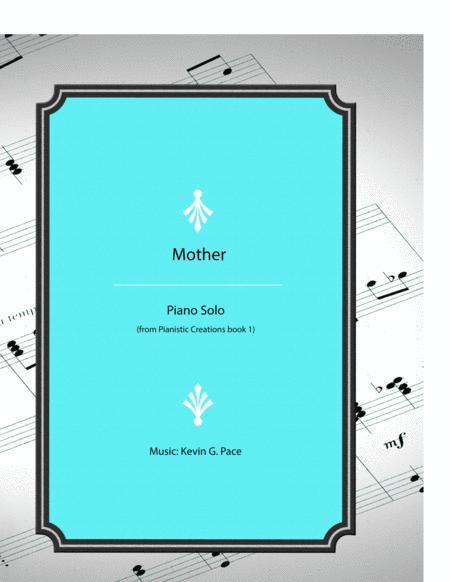 Mother - original piano solo / song