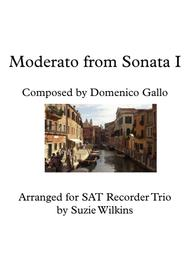 Moderato from Sonata I for SAT Recorder Trio
