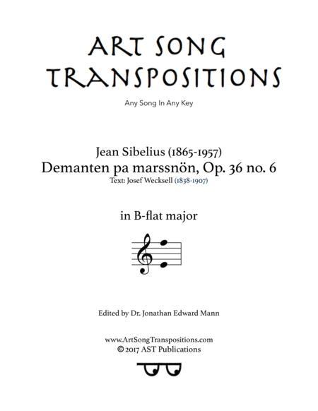 Demanten pa marssnön, Op. 36 no. 6 (B-flat major)