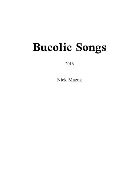 Bucolic Songs (score)