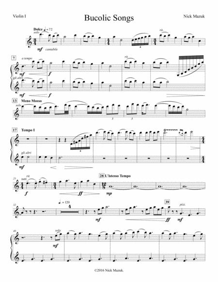 Bucolic Songs (parts)