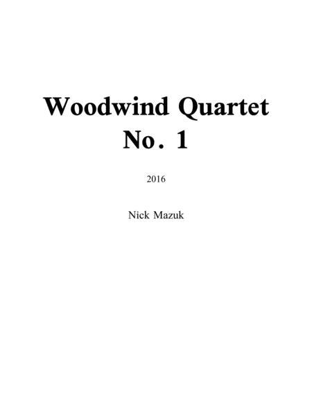 Woodwind Quartet No. 1 (score and parts)