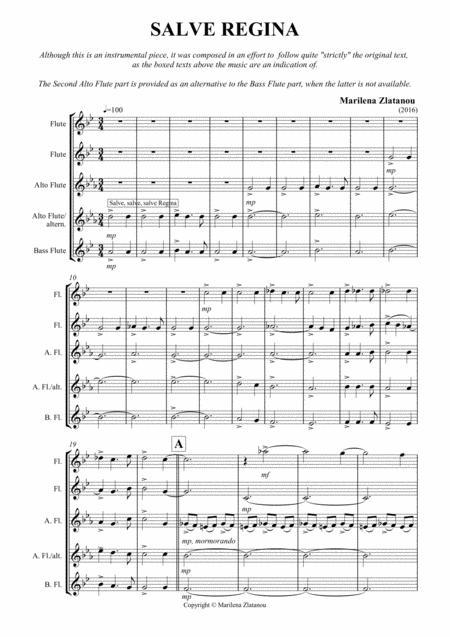 SALVE REGINA flute Quartett