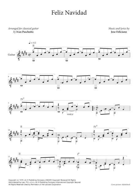 Feliz Navidad (for classical guitar)