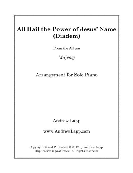 All Hail the Power of Jesus' Name (Diadem) - Solo Piano