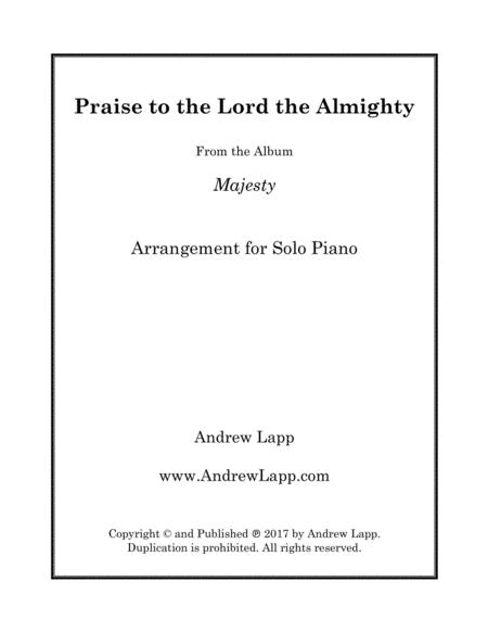 Praise to the Lord the Almighty - Solo Piano