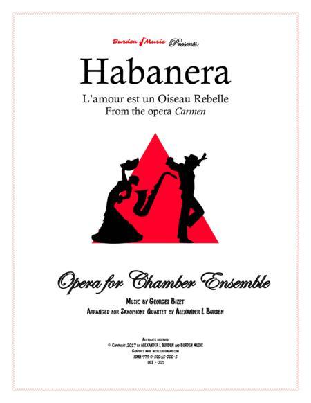 Habanera from the opera Carmen - Saxophone Quartet (SATB)
