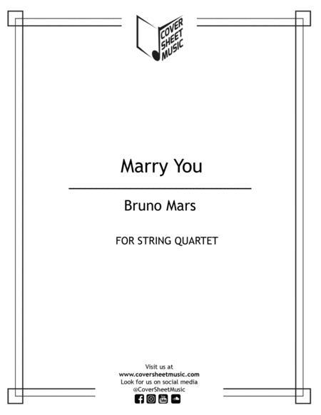 Marry You String Quartet