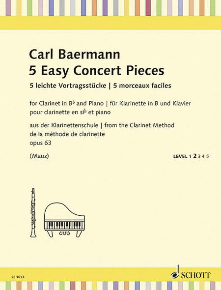 5 Easy Concert Pieces op. 63