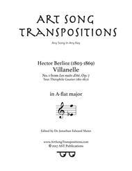 Villanelle, Op. 7 no. 1 (A-flat major)