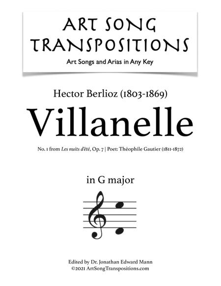 Villanelle, Op. 7 no. 1 (G major)