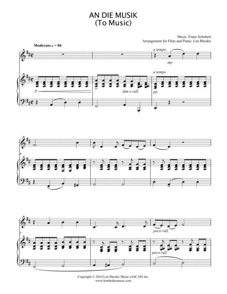 An Die Musik (To Music) - Franz Schubert - Flute and Piano