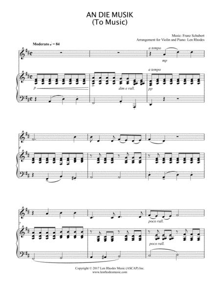An Die Musik (To Music) - Franz Schubert - Violin and Piano