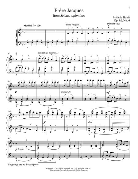 Download Frere Jacques Sheet Music By Melanie Bonis Sheet Music Plus