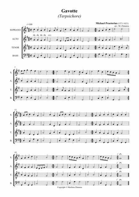 M.  Praetorius: Five Dances from TERPSICHORE, for SATB choir a cap.