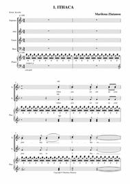 ITHACA, for SATB choir and piano