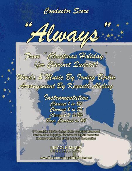 Always - Irving Berlin (for Clarinet Quartet)