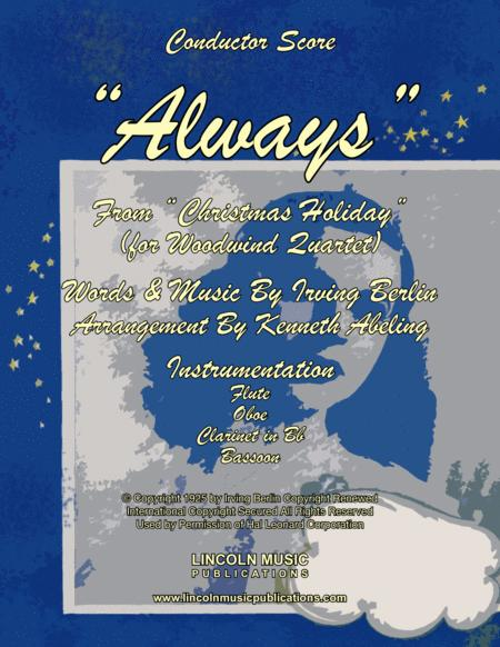 Always - Irving Berlin (for Woodwind Quartet)