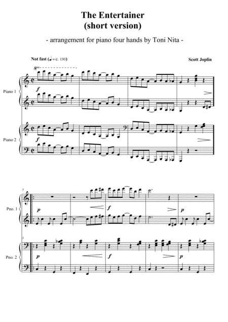 The Entertainer (short version) - Piano four hands