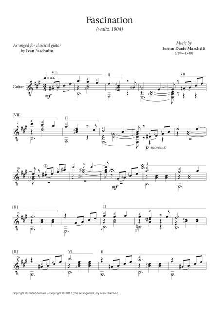 Fascination (waltz, classical guitar)