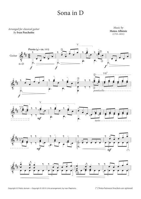 Sonata in D (Mateo Albéniz)