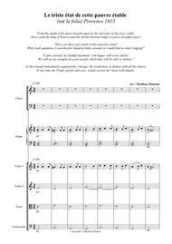 LE TRISTE ETAT, based on LA FOLIA, for SATB c.,strings and organ