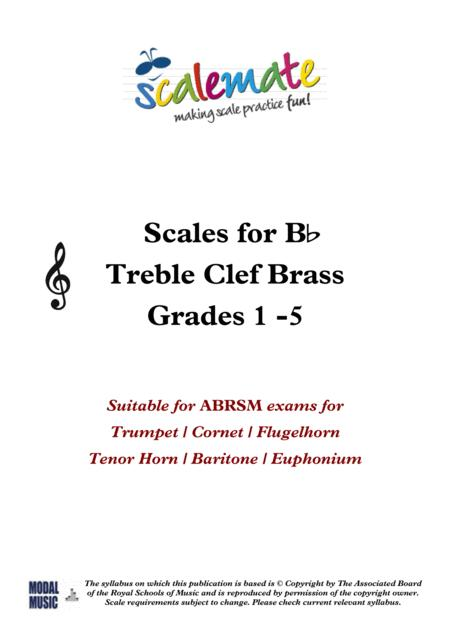 Preview B Flat Valved Brass Scales / Grades 1 - 5 By Dorian