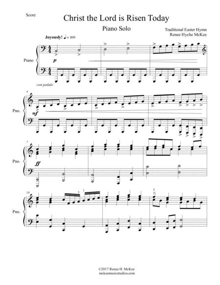 Download Christ The Lord Is Risen Today Easter Piano Solo Sheet