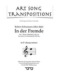 In der Fremde, Op. 39 no. 1 (F-sharp minor)