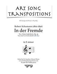 In der Fremde, Op. 39 no. 1 (E minor)