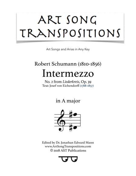 Intermezzo, Op. 39 no. 2 (A major)