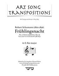 Frühlingsnacht, Op. 39 no. 12 (E-flat major)