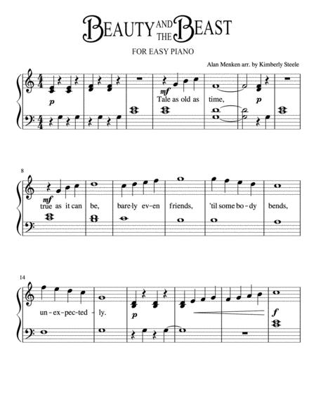 photograph about Beauty and the Beast Piano Sheet Music Free Printable named Down load Elegance And The Beast For Uncomplicated Piano Sheet Audio Via