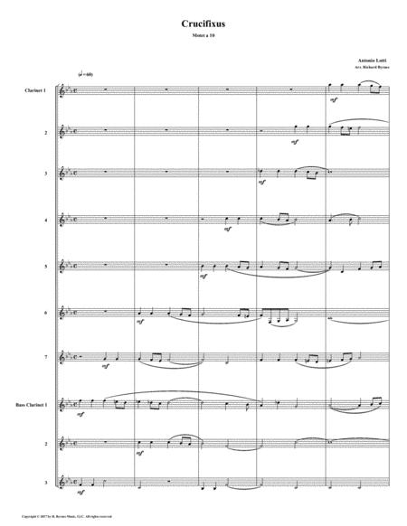 Crucifixus a 10 by Antonio Lotti (Clarinet Choir)