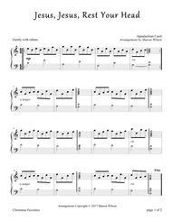 Jesus, Jesus, Rest Your Head (Piano Solo)