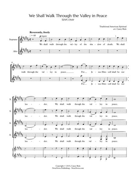We Shall Walk Through the Valley in Peace (SSAA) - arr. Casey Rule