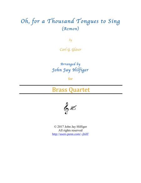 Oh, for a Thousand Tongues to Sing (Brass Quartet)